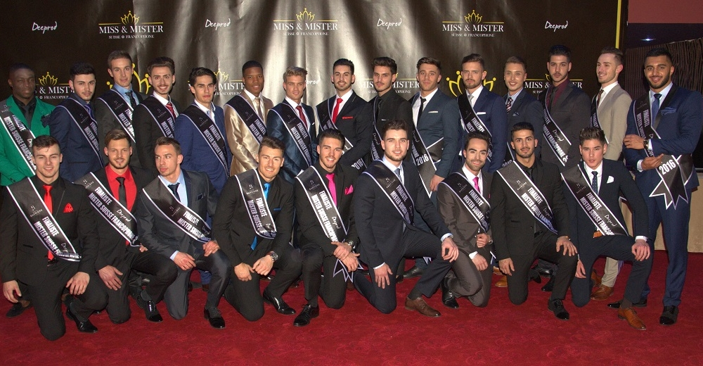Finalistes Mister 2016